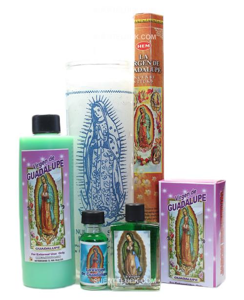 Virgin of Guadalupe Spiritual Ritual  Body bath Candle Incense Soap Perfume Oil