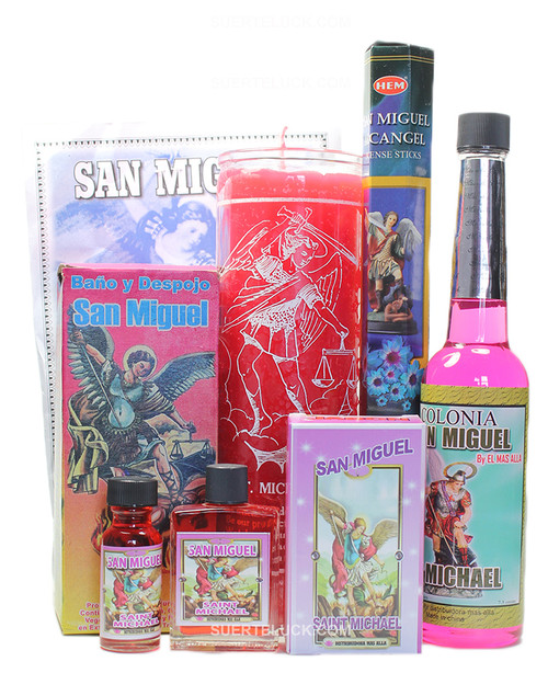 Archangel Saint Michael Spiritual Ritual San Miguel Herbs Bath Body wash Candle Incense Cologne Soap Perfume Oil