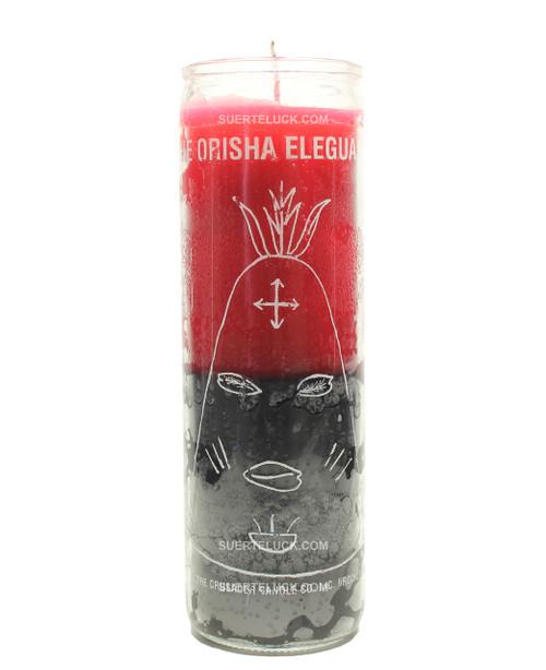 Elegua Orisha Candle  Santeria  Red Black