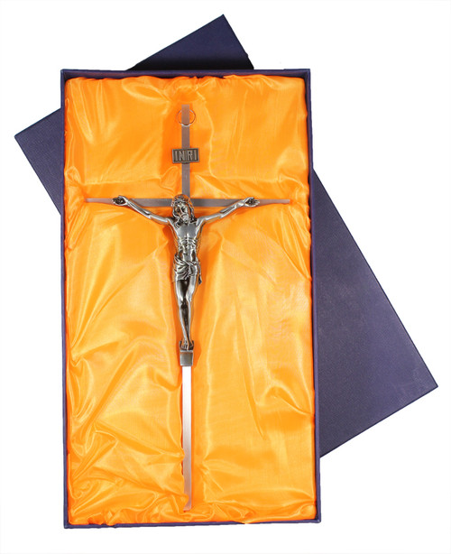 Staineless steal crucifix Gift box