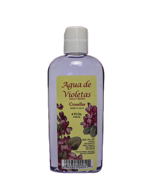Agua de Violeta Violet Water 4 ounces Crusellas