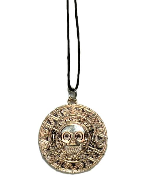 Golden Skull Charm  Necklace