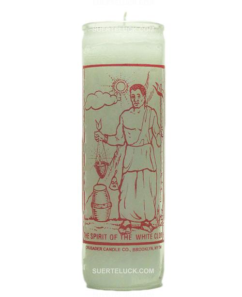 Orisha Obatala Candle Spirit of white cloth