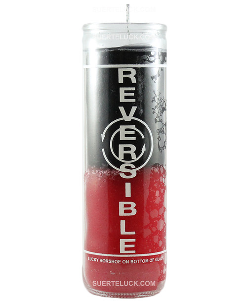 Double Action Reversible Candle  Black Red