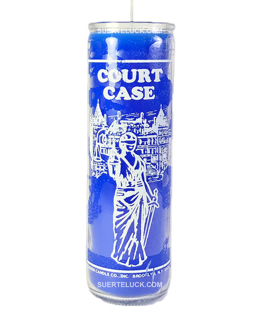 Court Case Candle  Blue Prayer