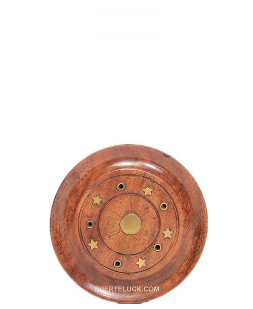 Wood Round 5 Incense sticks holder