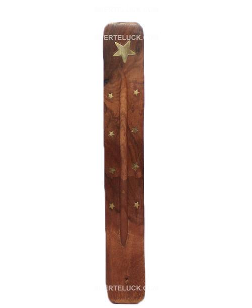 Wood Single Incense Stick Holder.