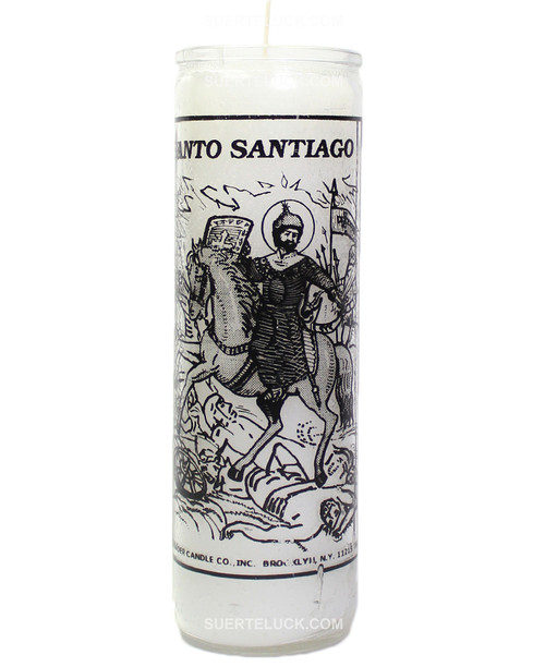Vela De Patron Santiago  Blanca