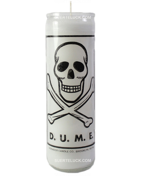 D.U.M.E Candle White Death Unto My Enemies