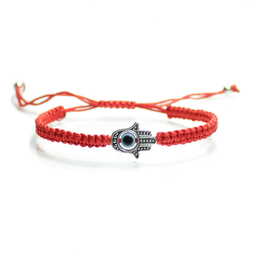 Red Braided Kabbalah String  Hamsa Hand  Bracelet  Handmade