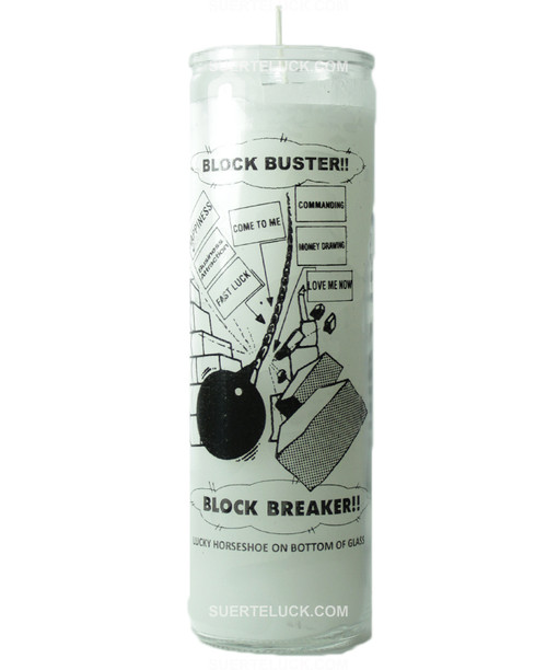 Block Buster Candle  7 Days  Spiritual  Crusader Candle