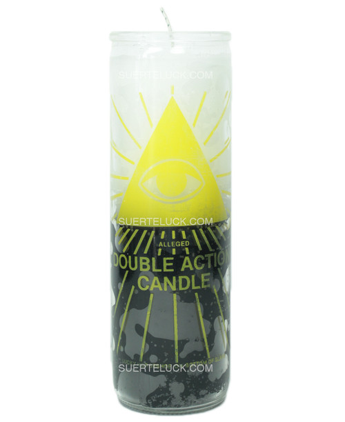 Double Action Reversible Candle  Agains Evil Eye  Against Gossip  Black and White