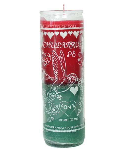 Chuparosa Candle Crusader  Red and Green