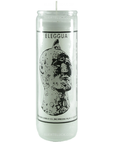 Eleggua Candle  Santeria 7 Days White