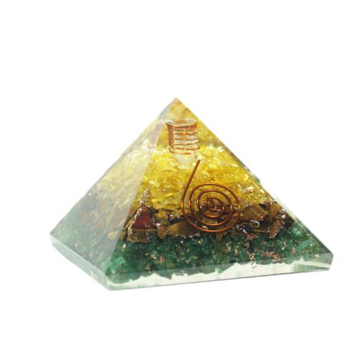 Orgonite Pyramid  Citrine  Jade  Tiger Eye