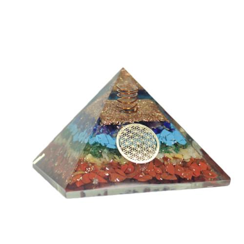 7 Chakras  Orgonite Pyramid