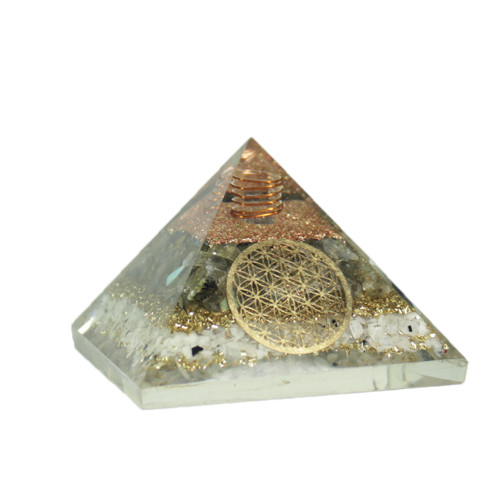 Orgonite Pyramid  Moonstone  Tree of Life