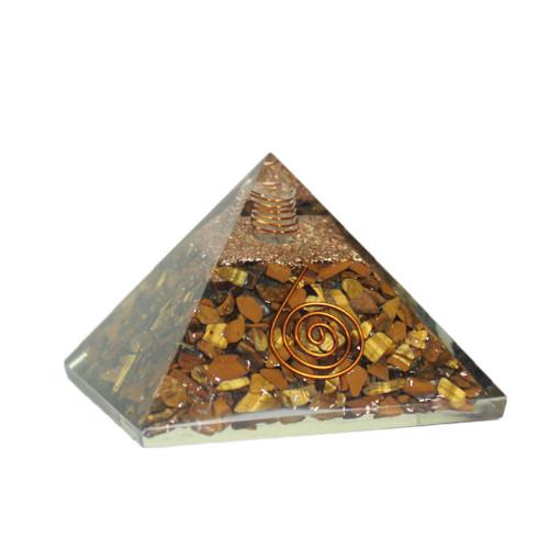Orgonite Pyramid  Tiger Eye