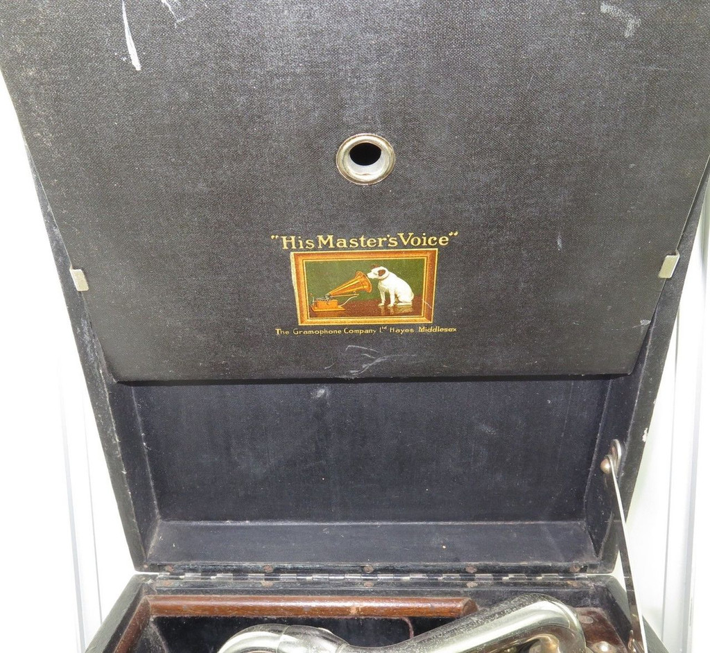 Early 1900s Hmv C101g Portable Gramophone