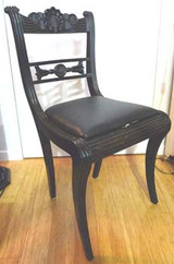 PAIR OF ANGLO INDIAN EBONY CHAIRS