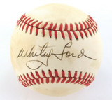 WHITEY FORD, HOF HAND SIGNED AUTOGRAPHED RAWLINGS RO-A BASEBALL. 100% GENUINE.