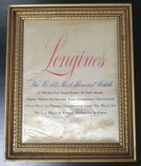 Vintage Longines The Worlds Most Honoured Watch Dealer Silk Sign C.1950s-60s