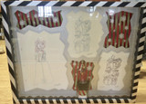 Signed Disney Nightmare Before Christmas Three Sketch Framed Storyboard Artwork (#2)