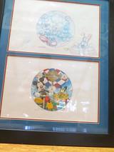 Signed 1997 World of Disney Sketch Framed Storyboard Artwork