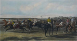 MID 19TH C FRAMED ENGRAVING OF THE EPSOM DERBY