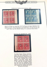 RARE 1928 HAWAIIAN SESQUICENTENNIAL STAMPs MINT PLATE BLOCKS. 2 CENTS 5 CENTS