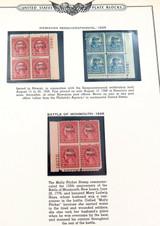 RARE 1928 HAWAIIAN SESQUICENTENNIAL STAMPs MINT PLATE BLOCKS. 2 CENTS 5 CENTS