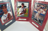 3 ATLANTA BRAVES SIGNED LARGE PHOTOS. JUSTICE GLAVINE MADDUX