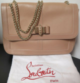 Christian Louboutin Natural Leather Large Sweet Charity Shoulder Bag