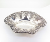Beautiful Antique Duhme & Co 925-1000 Fine Silver Floral Design Bowl 106.01 g
