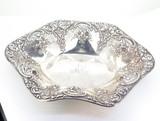 Beautiful Antique Duhme & Co c1880 925-1000 Fine Silver Floral Design Bowl 137g