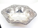 Beautiful Antique Duhme & Co c1880 925-1000 Fine Silver Floral Design Bowl 137g