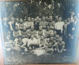 SUPER RARE 1921 MITCHAM F.C. PREMIERSHIP WINNING SIDE LARGE FRAMED PHOTO.
