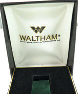 VINTAGE WALTHAM PLASTIC HARD SHELL MENS WATCH DISPLAY BOX