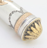 Beautiful Antique Sterling Silver Ornate Gold Inlaid Apple Corer Shagreen Case