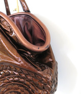 Bottega Veneta, Italy Bronze Metallic Coloured Oversized Leather Handbag