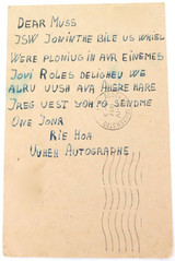 DORIS DAY, HOLLYWOOD LEGEND, POSTAL HISTORY. 2 x 1950s FAN POSTCARDS.