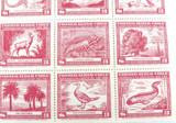 SCARCE. 1948 CHILE #C124 BLOCK of 25 $3, FLORA & FAUNA. MH