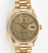 Vintage 1985 Rolex Day-Date President 18K Men's Wrist Watch 18038 + Box