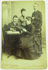 c1870 / 80s QUALITY STUDIO PHOTO by G A H EGGERS, DUNKIRK, NEW YORK. DOTY FAMILY