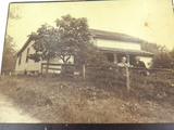 1889 LARGE ORIGINAL PHOTO, AMERICAN HOMESTEAD of ISAAC WILLIAMS & WIFE.