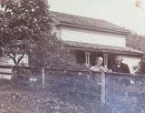 1889 LARGE ORIGINAL PHOTO, AMERICAN HOMESTEAD of ISAAC WILLIAMS & WIFE.