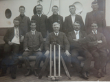 "1911…. REAL PHOTO POSTCARD ""AUSTRALIAN ELEVEN CRICKET TEAM"" on S.S. PERSIC"