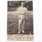 "c1905 ""G H HIRST"", ENGLAND  CRICKET POSTCARD. WRENCH SERIES No 1391."