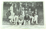 "c1904 "" MIDDLESEX TEAM""  CRICKET POSTCARD. G.D & D series"