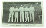"1904 ""LANCASHIRE AMATEURS. THE CHAMPION TEAM"" CRICKET POSTCARD. G.D & D series"